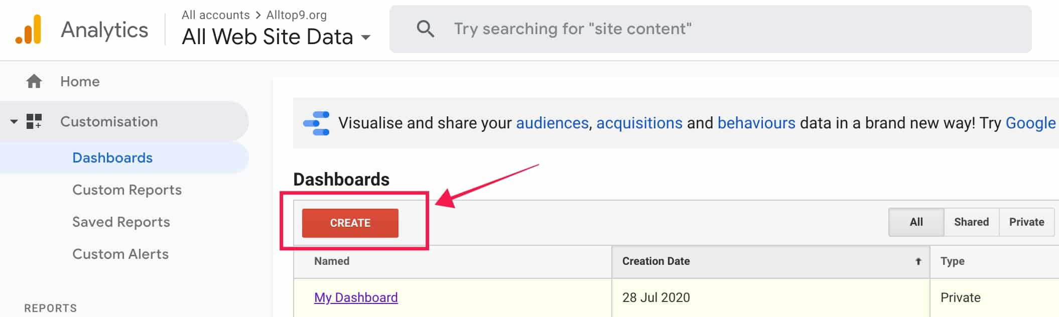 create-customised-google-analytics-dashboard